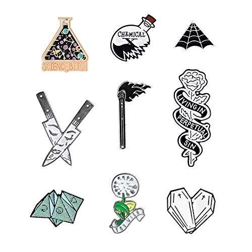 Cute Cartoon Brooch Pins Set Enamel Brooches Lapel Pins Badge for Women Girls Children Clothing Bag Decor ()