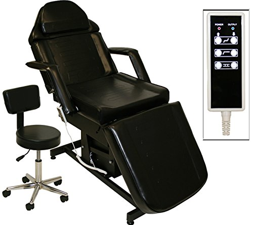 Black Electric Tattoo Massage Facial Table Bed Chair Barber Beauty Spa Salon Equipment ()