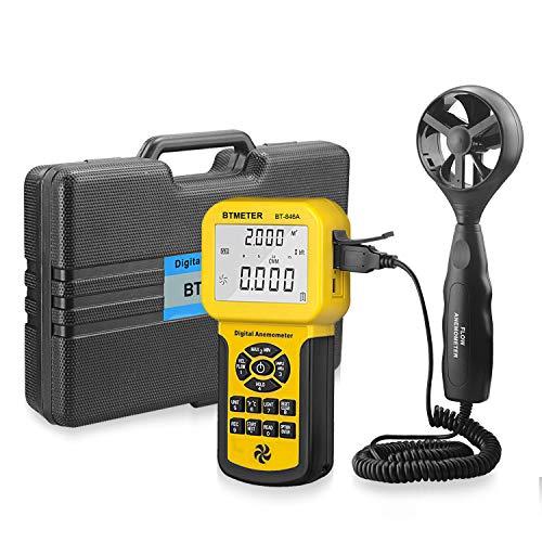 - BTMETER BT-846A Pro HVAC Anemometer Measures Wind Speed Wind Flow Wind Temperature CFM Air Flow Velocity Meter with Backlight MAX MIN AVG