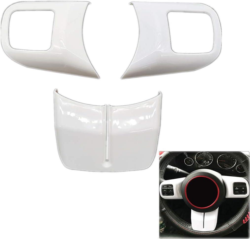 PSLER/® Veh/ículo Cubierta en Forma de U Embellecedor del Volante para Jeep Wrangler JK 2011-2017 Compass//Patriot 2011-2015 Grand Cherokee 2011-2013 Amarillo