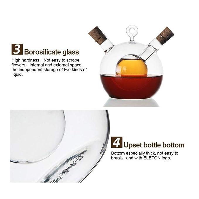 HYRL Botella de Aceite de Vidrio de Alta Temperatura pulverizador de Soja vinagre de Aceite Botella de Aceite de Cocina Suministros: Amazon.es: Hogar