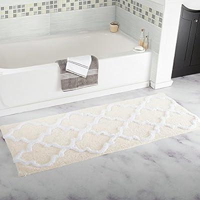 Homcomoda Microfiber Bathroom Shower Rug Geometric Bath Mats Washable Kitchen Floor Mats-17.72 by 47.24 Inch
