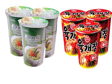 Price comparison product image Cup Ramen Set A-7 (Chlorella Cup Noodle Soup x3, Ottogi Yookkae Jang Cup Noodle x3)   A-7 (  x3,    x3)