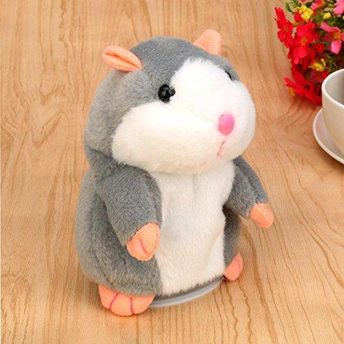 Kids Toy,Cloudro Adorable Interesting Speak Talking Record Hamster Mouse Plush Kids Toys (Gray)