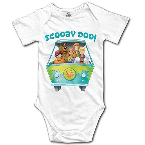 Doo Logo Unisex Cool Infant Romper Baby Boy Tank Tops 6 M White (Scooby Doo Romper)