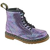 Dr. Martens Kid's Delaney IE Lace Fashion Boots, Purple Leather, 11 Little Kid M UK, 12 M
