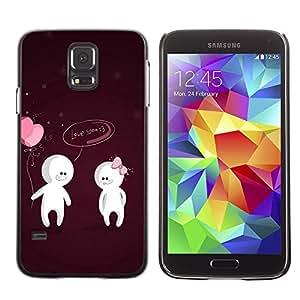 LECELL -- Funda protectora / Cubierta / Piel For Samsung Galaxy S5 SM-G900 -- Cute Love You Couple --
