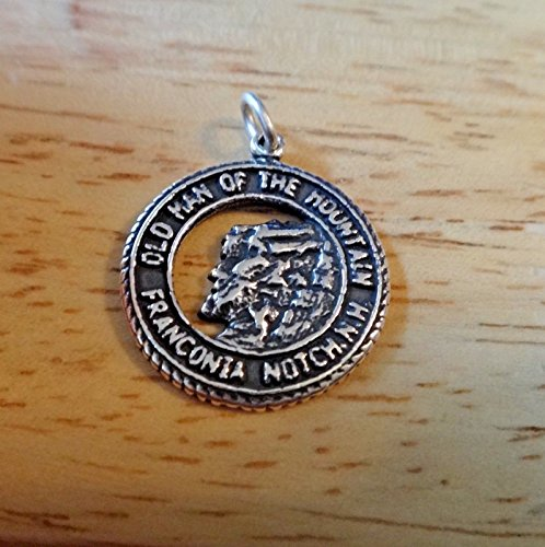 Sterling Silver 18mm Old Man of Mountain New Hampshire Charm Jewelry Making Supply, Pendant, Sterling Charm, Bracelet, Beads, DIY Crafting and Other by Wholesale Charms