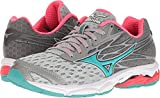 Mizuno Women's Wave Catalyst 2 Running Shoe, Grey/Mint, 8 B US