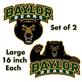 Baylor Bears - Large 16in Circle Cornhole Decals / Set of 2 University of Baylor