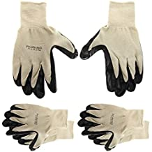 3 Pairs Of Men's Working Hands General PurposeNitrileCoated Gloves Latex-Free Cleaning Texting by '47