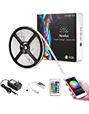 Nexlux LED Strip Lights, WiFi Wireless Smart Phone Controlled Non-Waterproof Light Strip LED Kit 5050 LED Lights,Working with Android and iOS System,Alexa, Google Assistant