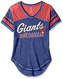 Outerstuff NFL Junior Girls Vintage Short Sleeve Football Tee, New York Giants, Dark Royal, S(3-5)
