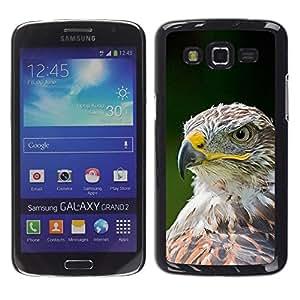 Caucho caso de Shell duro de la cubierta de accesorios de protección BY RAYDREAMMM - Samsung Galaxy Grand 2 SM-G7102 SM-G7105 - Bird Feathers Green Summer