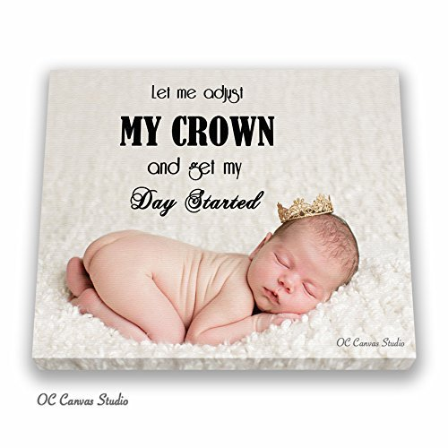 Amazoncom Newborn Baby Photo Canvas Print Custom Personal Family