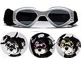 PETLESO Dog Goggles Stylish Doggie Puppy Sunglasses Windproof - White