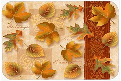 24H X 36W multicolor Caroline/'s Treasures PTW2001JCMT Fall Autumn Leaves Kitchen or Bath Mat 24x36 Carolines Treasures PTW2001JCMT Fall Autumn Leaves Kitchen or Bath Mat 24x36