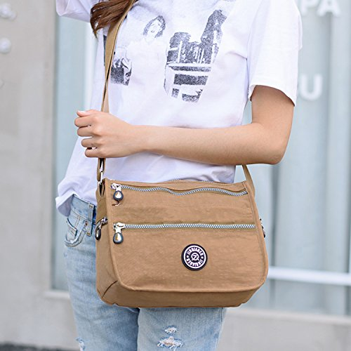 Diseño Para Foino Bolso De Bag Beige Bolsa Moda Bolsas Mujer Tableta Deporte Viaje Ligero Impermeable Bandolera Messenger Vintage qfCqSZxw6