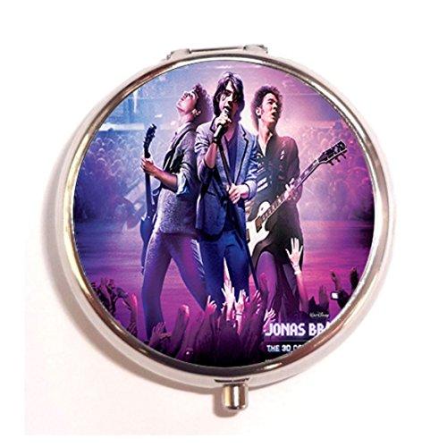 - Jonas Brothers Custom Image Round Silver Pill Case Box Unique Medicine Tablet Organizer or Coin Purse