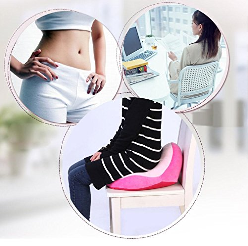 Perfect Cushions orthopedics Cushions Coccygeal Decompression Pregnant Women Cushion Hemorrhoids Cushion Home Office Tight buttocks muscles Cushions Pink by MQ&YH (Image #2)