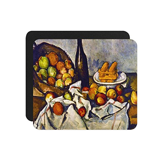 Apple Basket (Cezanne) Computer Laptop Mouse Pad (Cezanne Basket Of Apples)