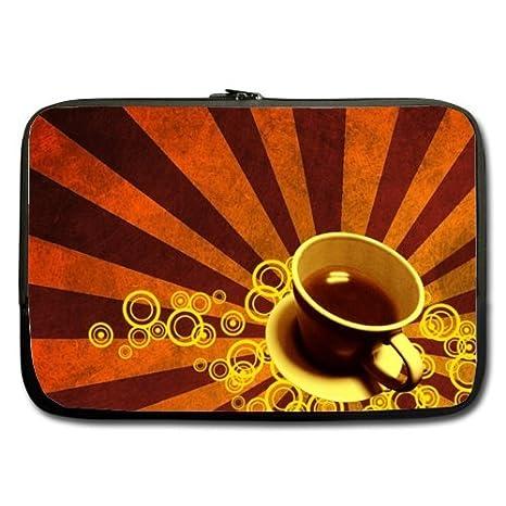 Naranja Fondo De taza café mejor precio 17 inch Laptop/Ordenador portátil/ portátil (