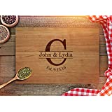 Personalized Cutting Board Wedding Gifts by Froolu Customized Engraved Newly Weds Couples Chopping Cheese Board Wood FAST SHIPPING Cherry 7x8