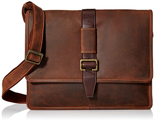 3/4 Flap Messenger Bag (Visconti Zorro Large Messenger Bag In Oiled Leather, Tan, One Size)