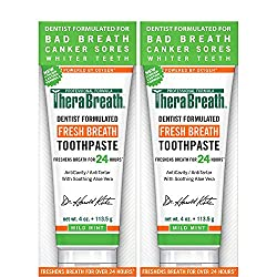 Finding a fast-acting, healthy, natural, and effective toothpaste that works instantly to stop bad breath can be time-consuming and expensive. Fortunately, TheraBreath Fresh Breath Toothpaste with Fluoride is an advanced, dentist-formulated toothpast...