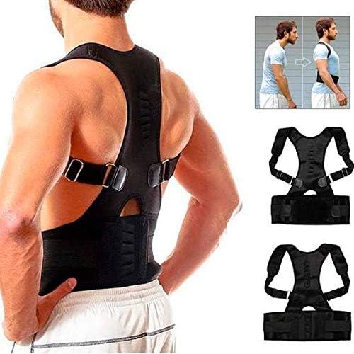 ANANDAYA Corrector de Postura para Espalda y Hombros Aliviar Dolor de Columna Cinta Ajustable y Cómoda Sujeción Cinturón Corrección de Postura Respirable para Mujeres y Hombres