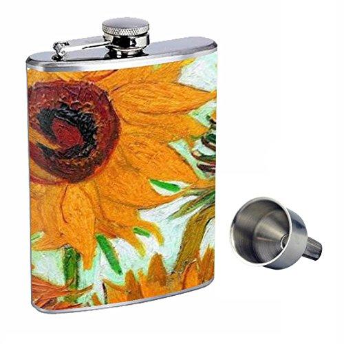 上品な Vincent Van Gogh Free Sunflowers Perfection inスタイル8オンスステンレススチールWhiskey Flask with Free Gogh Perfection Funnel d-007 B015QLC7LC, SEVENSEAS:117db6ee --- senas.4x4.lt