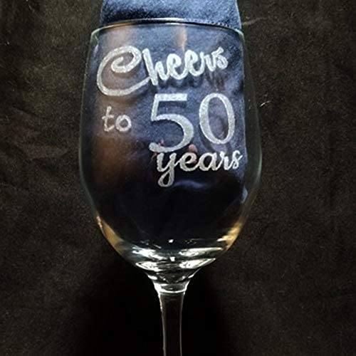 Copas de vino personalizadas para cumpleaños de 50 a 50 años para mujer: Amazon.es: Hogar