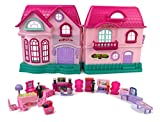 My Sweet Happy Family House Toy Dollhouse Playset w/ Double Sided House, Sounds, 3 Doll Figures, & Furniture