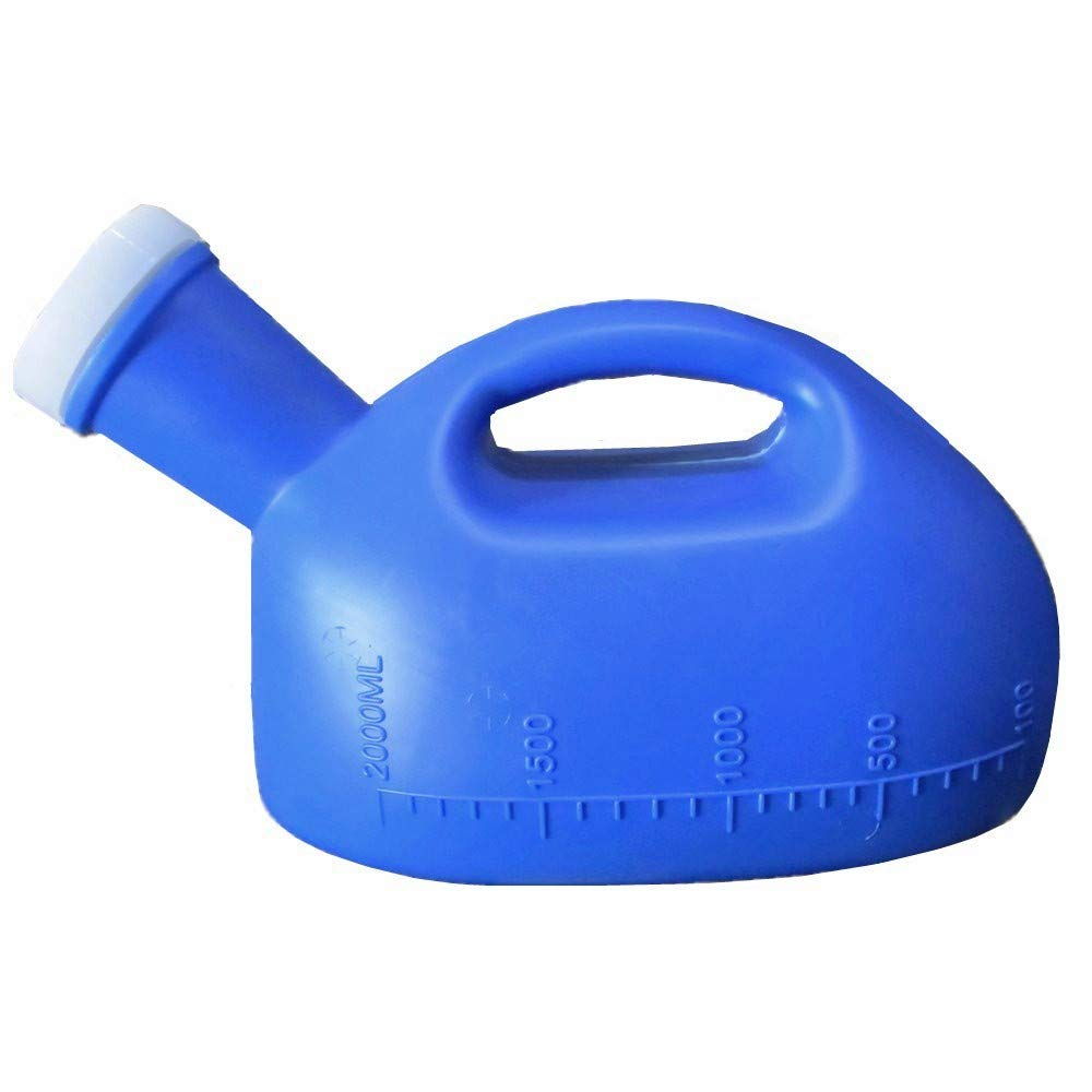 GUANGJIQIAO 2000ML Male Urinal Mens Potty Portable Pee Bottle Collector Travel Toliet (Blue) by GUANGJIQIAO
