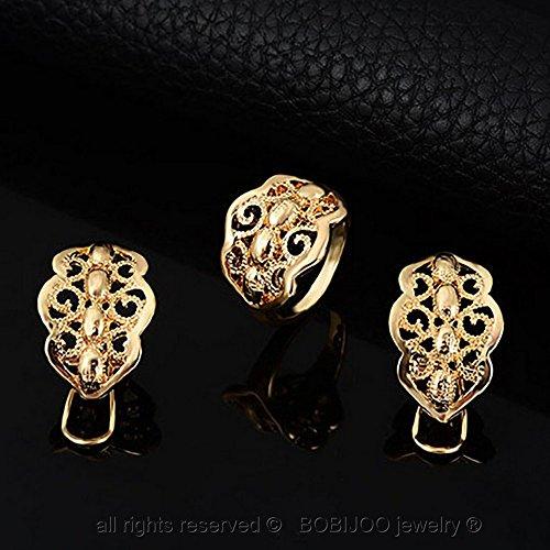 BOBIJOO Jewelry - Parure Bijoux Mariage Fête Soirée Oriental Takchita Caftan Doré Couleur Or Strass Afrique
