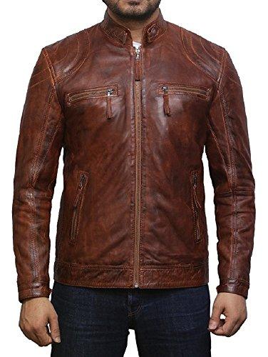 Tan Leather Jacket Mens - 2
