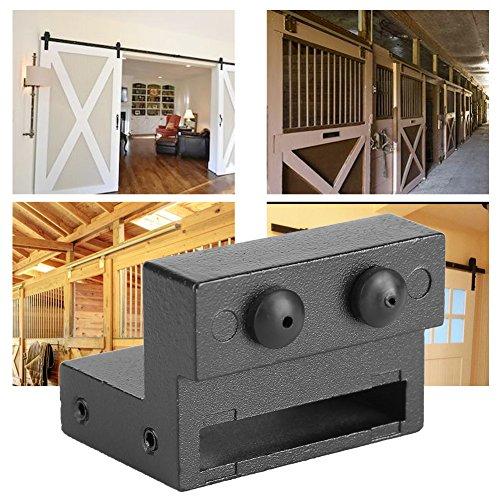 Pack of 2 Zinc Alloy Barn Door Stopper Track Roller ...