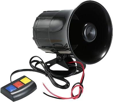 Kkmoon Auto Motorrad Hupe 3 Töne Lautsprecher Super Laut Horn 12v Lautsprechersicherheitswarnung Sirenenhorn Auto
