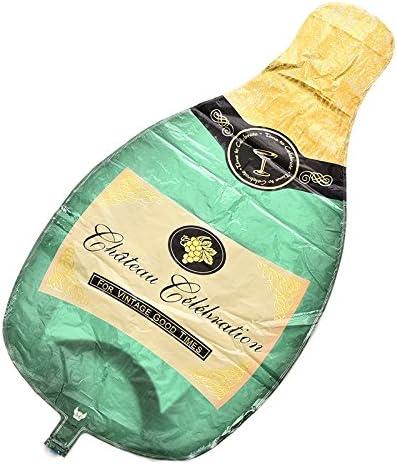 Amazon.com: Copa de cristal – 1 botella de champán, globos ...