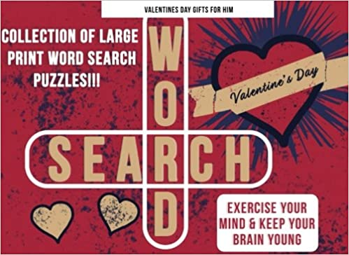 Valentines Day Gifts For Him Word Search Puzzle Book As Valentines