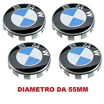 4 Tapacubos compatibles con BMW, 55 mm, Serie 1 2 3 4 5 6 7 M Z X, llantas de aleación: Amazon.es: Coche y moto