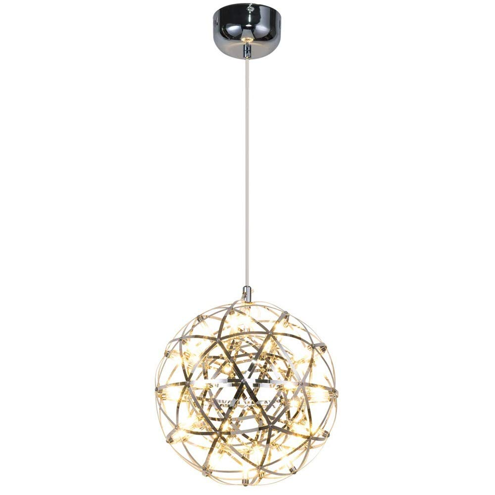 Wc-kYT Modern Creative Starry Sparkle Ball Round Hanging Lamp Living Room Dining Room Bedroom Chandelier