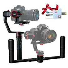 FeiyuTech a2000(10th Anniversary Edition) Dual Grip Handle Kit for DSLR Camera, Foldable Handle, Compatible with NIKON/SONY/CANON Series Camera and lens, 2 Kilogram Payload, Damping Sliding Arm