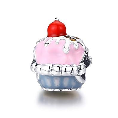 Cadeau De Noël Pour Fille.Reiko Tasse à Gâteau 925 Argent Charms Bricolage Perles Pour