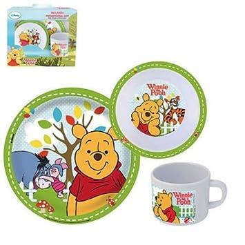 Winnie the Pooh - Melamine Dinnerware Set Breakfast (Plate Cup Bowl)  sc 1 st  Amazon UK & Winnie the Pooh - Melamine Dinnerware Set Breakfast (Plate Cup ...