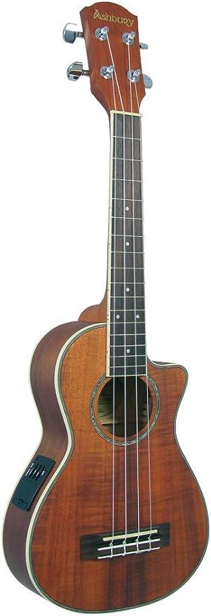 Ashbury CK-TEQ - Ukelele tenor (arce), color marrón: Amazon.es ...