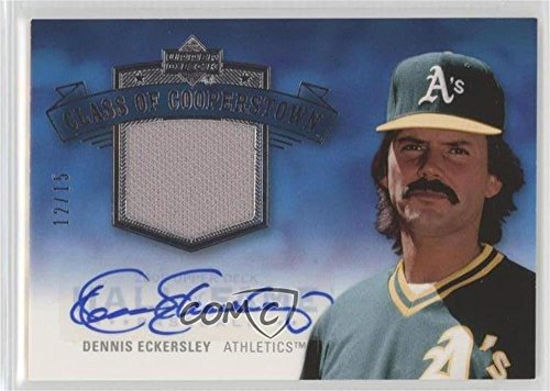 (Dennis Eckersley #12/15 (Baseball Card) 2005 Upper Deck Hall of Fame - Class of Cooperstown - Silver Material Autographs [Autographed] [Memorabilia] #CC-DE1)