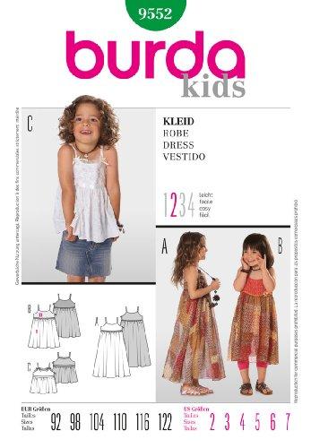 (Burda Children's Sewing Pattern 9552 - Dress Sizes: 2-7)