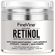 Retinol Moisturizer Cream for Face and Eye Area - Made in USA - with Hyaluronic Acid, Vitamin E - Best Day and Night Anti Aging Formula to Reduce Wrinkles, Fine Lines & Even Skin Tone.