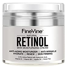 Get That Silky Soft & Glorious Skin Back! With A FineVine Organics Retinol Moisturizer Cream! Say NO to......a dull looking skin!  ... lost brightness. ... lurking fine lines. ... cheaply made creams that always let you down. ... dark spo...